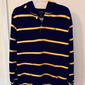 Boy's Polo Ralph Lauren Button Up Hoodie, XL